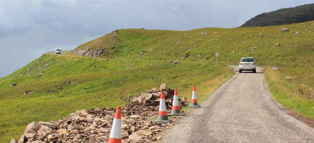 19 cars and mobile homes, Applecross Pass, Ruth's coastal walk Scottish Highlands