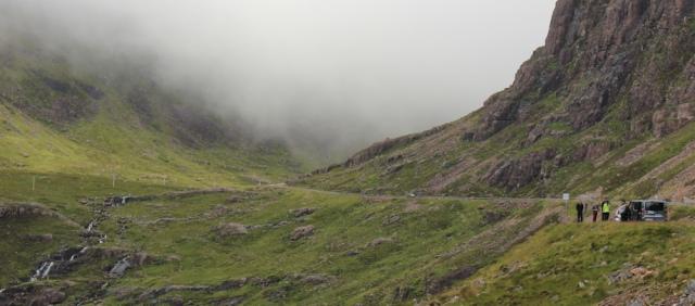 22 Coire na Ba and waterfalls, Ruth's coastal walk Scottish Highlands
