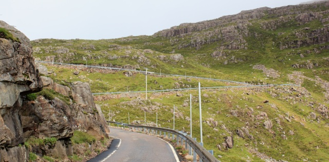 25 hairpin bends, Bealach na Ba, Ruth hiking to Applecross