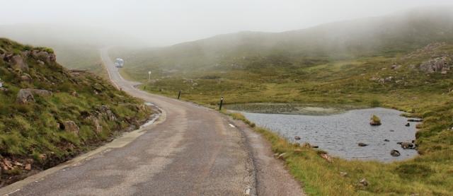 29 road flattening off, Applecross pass, Ruth's coastal walk Scottish Highlands