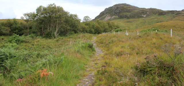 30 open landscape to An Sgurr, Wester Ross, Ruth hiking around the coast, Scottish Highlands