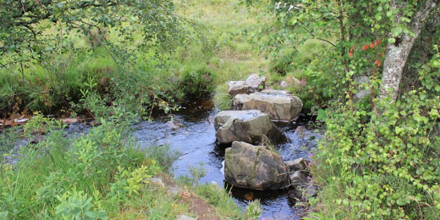 31 scary stepping stones, Wester Ross, Ruth hiking around the coast, Scottish Highlands