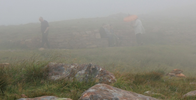 34 seats in the mist, top of Applecross Pass, Ruth's coastal walk Scottish Highlands
