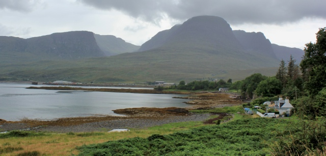 46 tomorrows walk ahead, Kishorn, Ruth hiking around the coast of the Scottish Highland