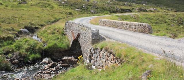 56 Little Burn Bridge, Drochard an Uillt Bhig, Ruth hiking to Applecross, Scotland