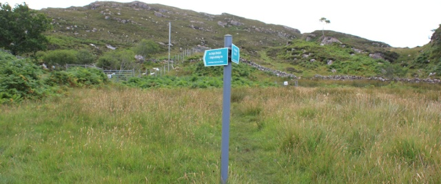 08 footpath fork, Toscaig, Ruth's coastal walk, Applecross Peninsula