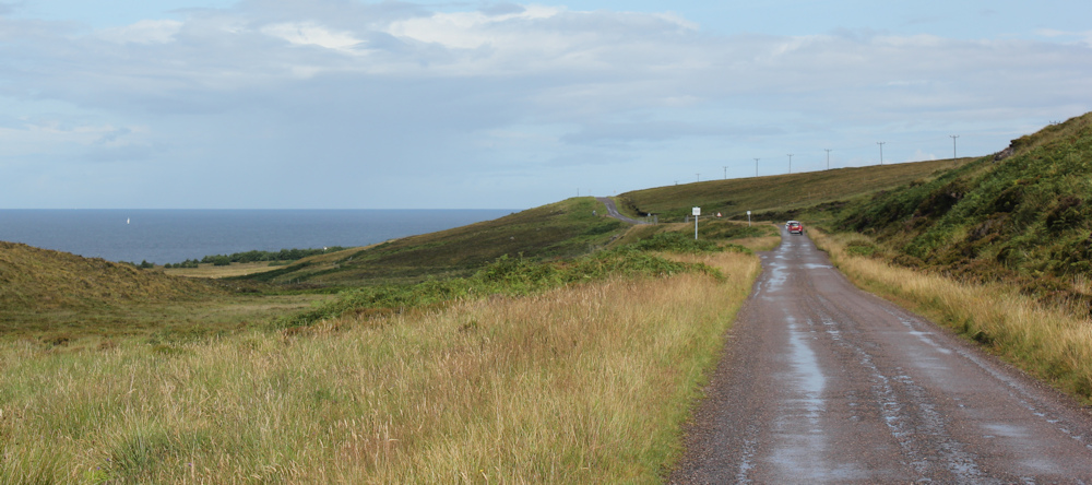 13 road from Applecross to Cuaig, Ruth hiking round the coast of Scotland