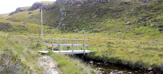 17 Bridge over Allt Lochan an t-Sagairt, to Airigh-Drishaig, Ruth's coastal walk, Applecross Peninsula