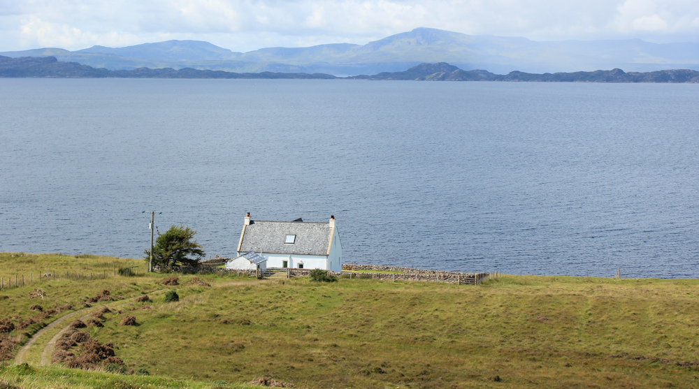 20 perfect holiday cottage, Lonbain, Ruth walking up the coast of Applecross, Scotland