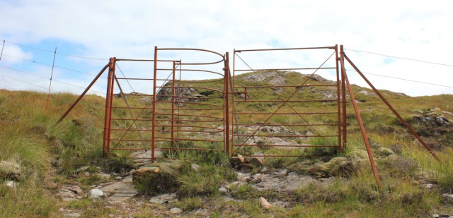 24 through deer fence, to Airigh-Drishaig, Ruth's coastal walk, Applecross Peninsula