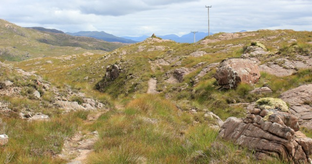 27 up the hill to a cairn, to Airigh-Drishaig, Ruth's coastal walk, Applecross Peninsula