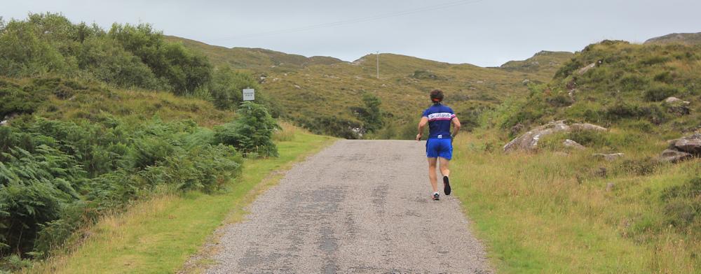 29 Scottish runner, Ruth walking the coast of Scotland, Applecross
