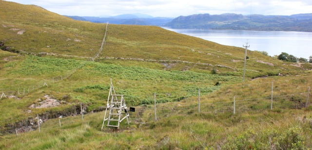 31 down to deer fence, to Airigh-Drishaig, Ruth's coastal walk, Applecross Peninsula