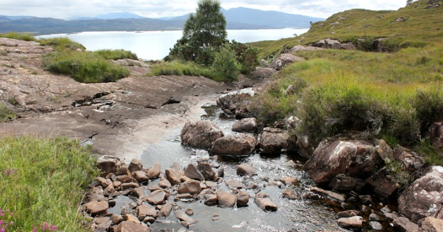 34 Allt Maol Fhraochach, to Airigh-Drishaig, Ruth's coastal walk, Applecross Peninsula