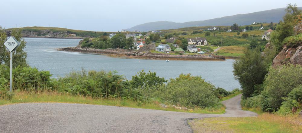 34 road around Poll Creadha, Ruth walking the coast of Scotland, Applecross