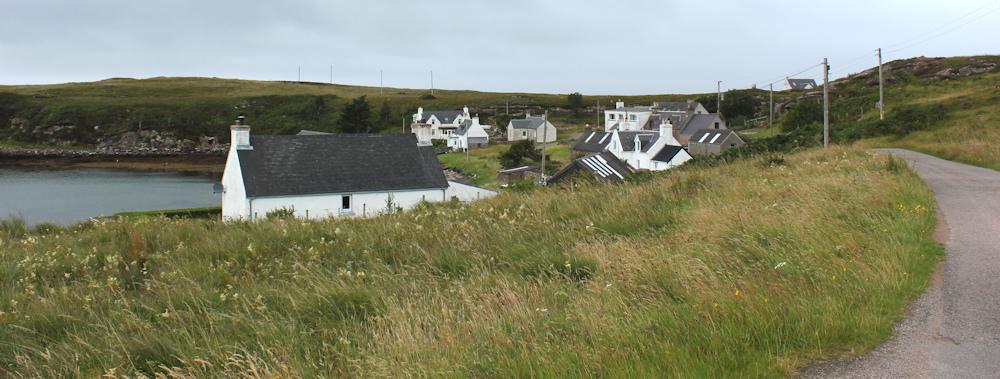 36 road through Camustiel, Ruth walking the coast of Scotland, Applecross