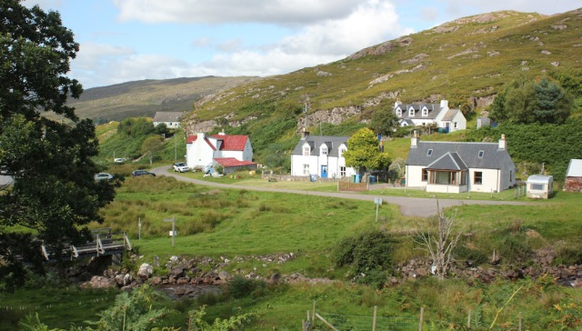 39 Upper Toscaig in sunlight, Ruth's coastal walk, Applecross Peninsula