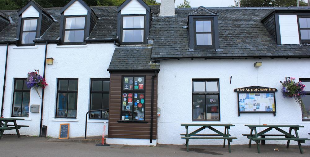 43 Applecross Inn, Ruth walking the coast of Scotland