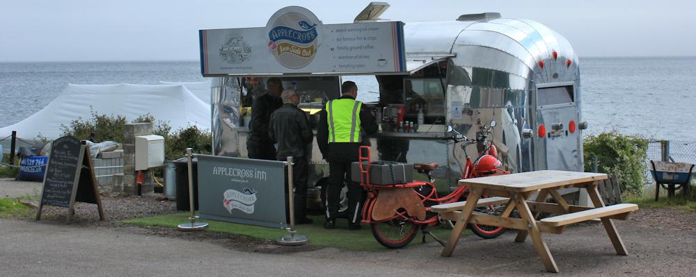 44 Applecross Inside Out van, Ruth walking the coast of Scotland
