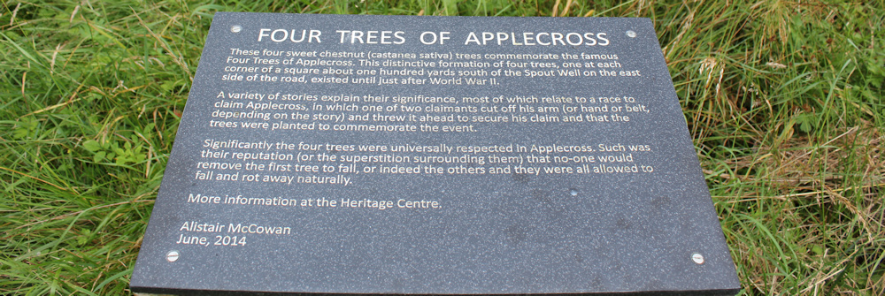 48 four trees of Applecross, Ruth walking the coast of Scotland
