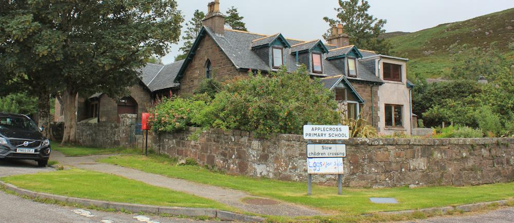 Applecross School, Ruth's coastal walk around Scotland
