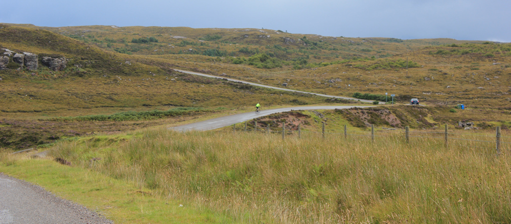 03 inland road from Cuaig, Ruth hiking around the north of Applecross, Scotland