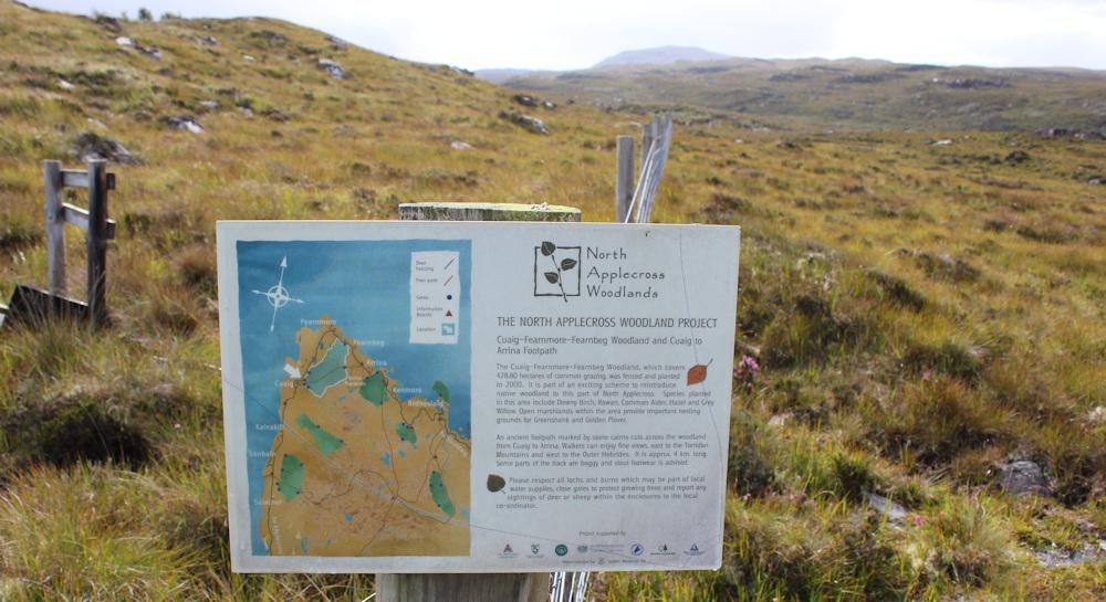 06 North Applecross Woodland project, Ruth hiking around coast of Applecross, Scotland