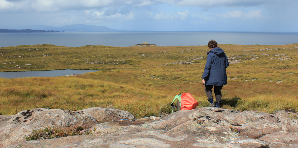 11 self portrait, Ruth hiking around the north of Applecross, Scotland