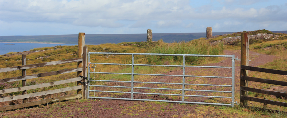 18 old gate, Ruth hiking around the north of Applecross, Scotland