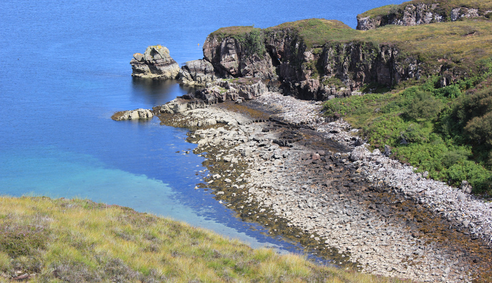 20 rocky coves and crystal clear water, Ruth hiking around the north of Applecross, Scotland