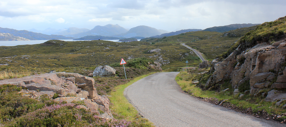 23 heading towards Fearnbeg, Ruth hiking around the north of Applecross, Scotland
