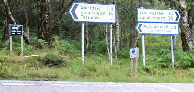 41 main road to Shieldaig, Ruth hiking the coast, Wester Ross, Scotland