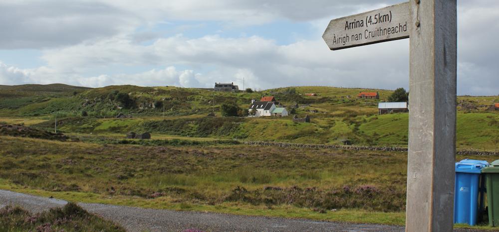 footpath to Arrina, Ruth's coastal walk around Scotland