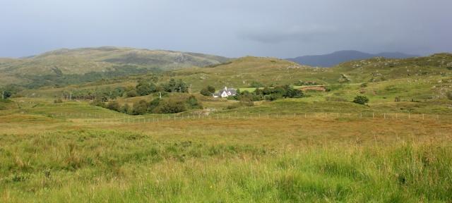 04 view to Acharn and beyond, Ruth walking across the Morvern Peninsula, Scotland