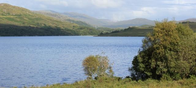 08 looking up Loch Arienas, Ruth walking across the Morvern Peninsula, Scotland