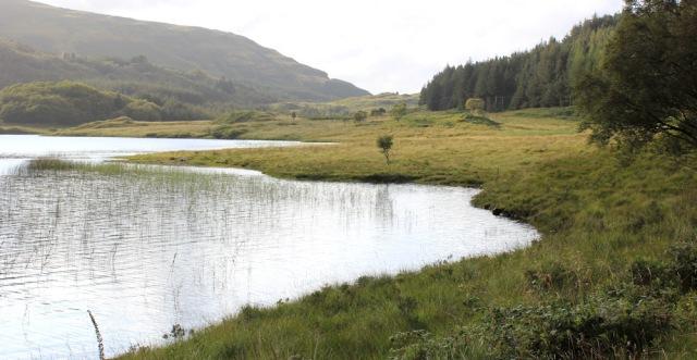 16 end of Loch Doire nam Mart, Ruth hiking the Morvern Peninsula, Scotland