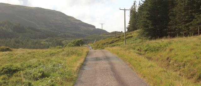 17 on to Loch Teacuis, Ruth walking across the Morvern Peninsula, Scotland