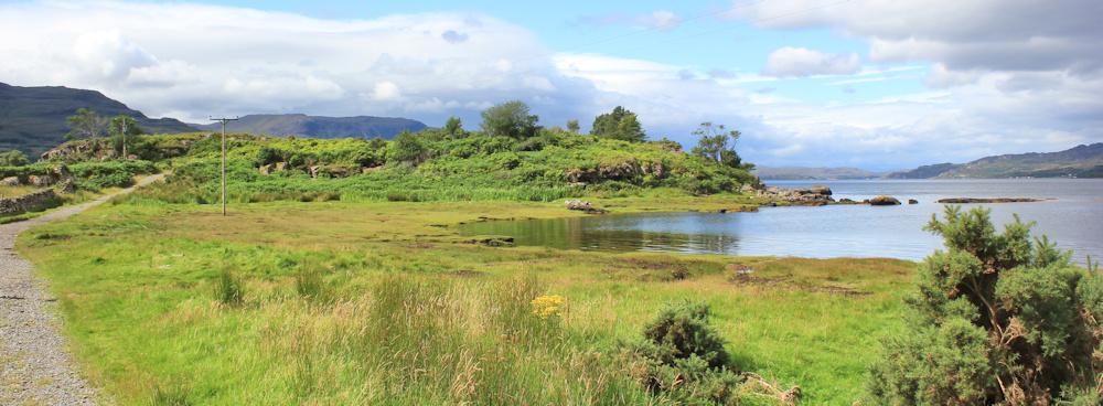 016 walk to Am Ploc, Ruth walking the coast of north-west Scotland