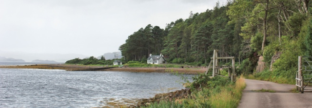 023 rain falling, Torridon Estate, Ruth walking the coast of Scotland