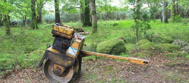025 rusting machinery, Ruth walking the coast from Torridon, Scotland