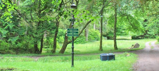 027 Narnia Lamp Post, Ruth walking the coast through theTorridon Estate, Scotland