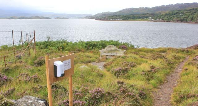 034 view point, Inveralligin, Ruth walking the coast from Torridon, Scotland