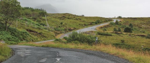 042 very wet walk back to Torridon House car park, Ruth's coastal hike around Britain