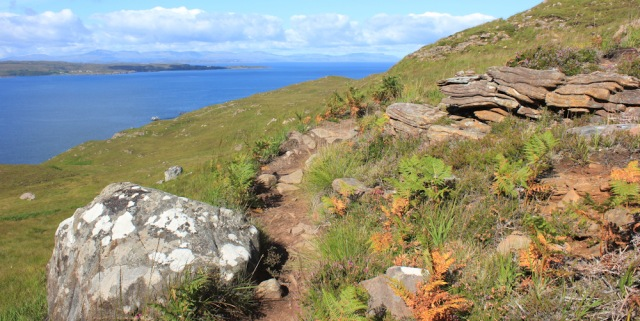 05 hike over stony landscape, Ruth's coastal walk to Craig Bothy and back, Scotland