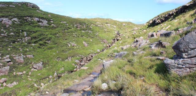 11 beside a stream, Ruth's coastal walk to Craig Bothy and back, Scotland