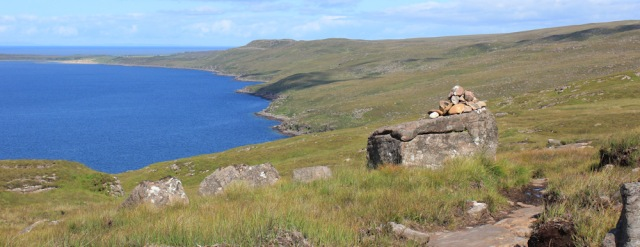 13 second cairn, Ruth's coastal walk to Craig Bothy and back, Scotland