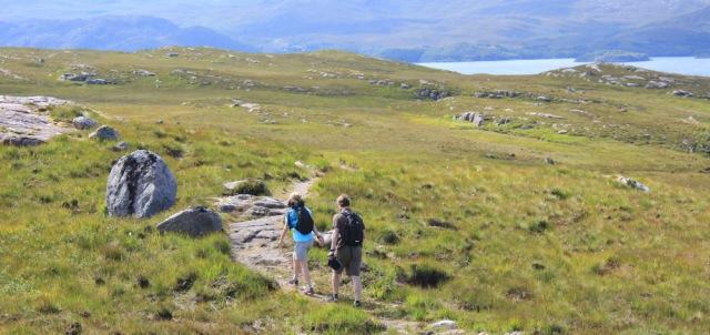 14 hikers returning, Ruth's coastal walk to Craig Bothy and back, Scotland