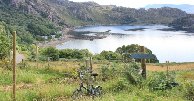 27 bike left on road, Lower Diabaig, Ruth's coastal walk to Craig Bothy and back, Scotland