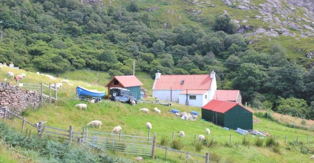 33 crofting life in Diabaig, Ruth walking the coast of NW Scotland