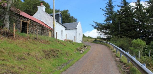 35 steep slopes and sharp bends, Diabaig, Ruth walking the coast of NW Scotland
